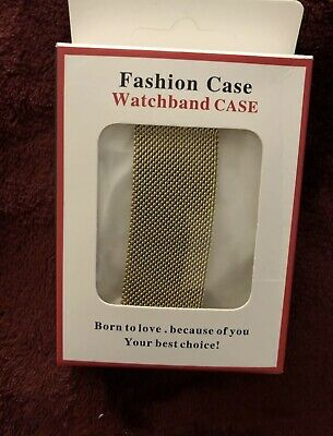 AU6.66 • Buy Apple Milanese Loop Watch Band W/ Gold Fashion Case - 42mm/44mm, Gold