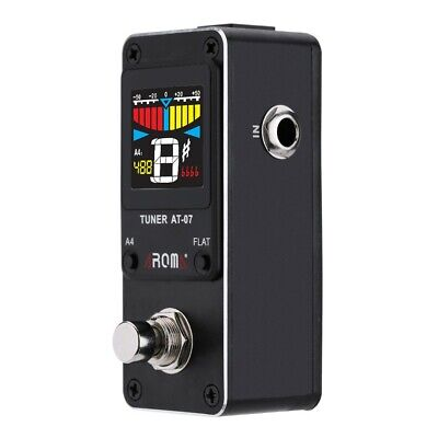 AU38.29 • Buy Mini Single Guitar Tuner Pitch Effect Pedal Chromatic Metal Shell Color Display