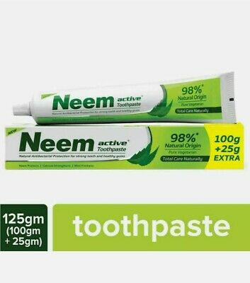 £18.11 • Buy 3 X NEEM ACTIVE Natural Antibacterial  Protection Toothpaste 125gEach(Pack Of 3)