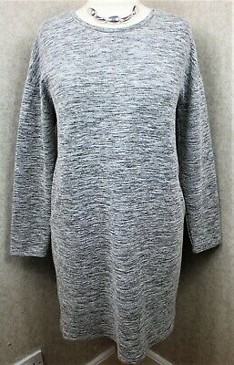 £7.50 • Buy JOULES ~ Size 16 ~ 'ELLIE' Grey Marl, Textured Winter Weight, Loose Shift Dress
