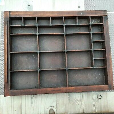 £22 • Buy Antique Vintage Wood Letter Press Type Case Print Tray Printers Box Drawer