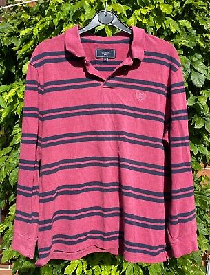£4.20 • Buy Atlantic Bay, BHS Vintage Rugby Style Shirt. Red, Blue Stripes. L. R/G C