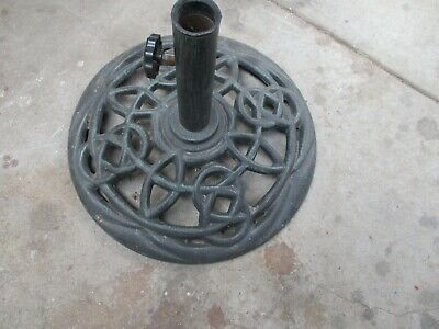 AU25 • Buy Vintage Cast-Iron Outdoor  UMBRELLA  STAND Good Order And Condition
