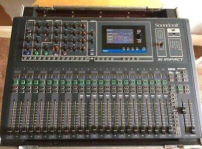 £1400 • Buy Soundcraft SI Impact 40/16 Digital Mixing Console With Flightcase.