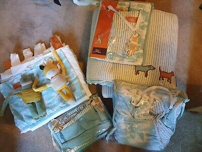 £20 • Buy Joules On The Farm Nursery Quilt, Curtains, Nappy Storage, Cot Bumper & Pockets.