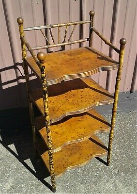 AU264.39 • Buy  Antique Victorian Bamboo Stand Bookcase What Not Shelf 1920 Stick And Ball No 2