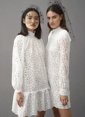 AU100 • Buy Scanlan Theodore Cotton Embroidered Dress White Size 8 RRP $650 Reduced