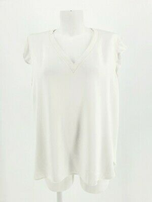 AU35 • Buy KATE SPADE White Top With Ruffle Sleeve Women's Size L