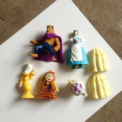 £5 • Buy Vintage McDonalds Toys - Disney's Beauty And The Beast - Complete Set - 1990s