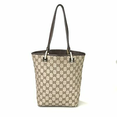 AU14.14 • Buy GUCCI Bag Tote Bag Canvas GG Beige Authentic Used