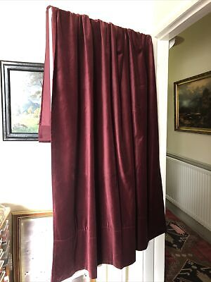 £45 • Buy IKEA Beautiful Red Velvet Cotton Baroque Curtains Length 88   Width 55
