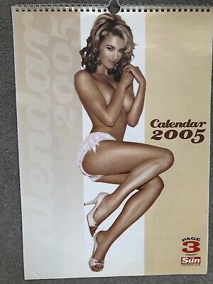 £9.50 • Buy The Sun 2005 Page 3 Girls Topless Glamour Calendar Krystle