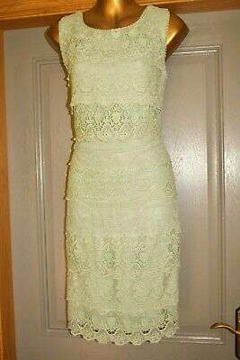 AU1.84 • Buy Phase Eight Green Tiered Lace Party Wedding Formal Occasion Dress Size 14 New