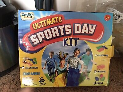 £8 • Buy Ultimate Sports Day Kit Egg And Spoon Three Legged Sack Race Garden Events Outdo