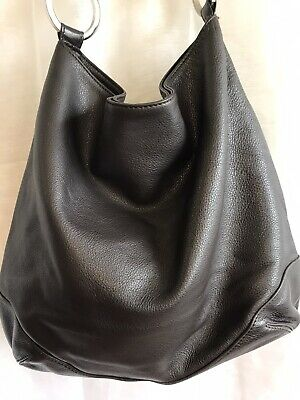 AU65 • Buy Oroton Large Chocolate Brown Pebbled Leather Hobo Bag Immaculate Condition