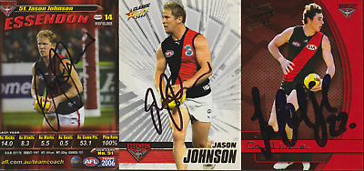 AU6.99 • Buy Essendon Bombers Hand Signed AFL Select Teamcoach AFL Cards Select Your Card