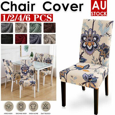 AU1.99 • Buy 1/2/4/6Pcs Stretch Dining Chair Cover Removable Slipcover Washable Banquet Event