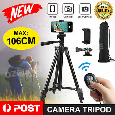 AU13.85 • Buy Professional Camera Tripod Stand Mount Remote + Phone Holder For IPhone AU