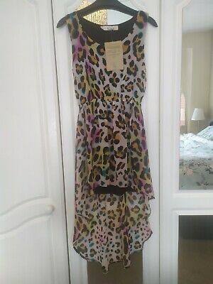 £0.99 • Buy Topshop Concession Dipped Hem Leopard Print Dress Rrp £45 New With Tags Size S