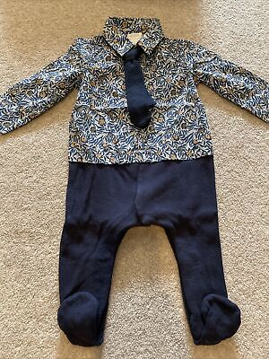 £3 • Buy Mamas And Papas Baby Boys Shirt Tie Outfit Set Babygrow 3-6 Months