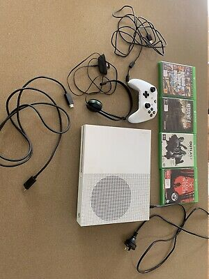 AU230 • Buy Microsoft Xbox One S 1TB White Console With Controller And Games GTA5