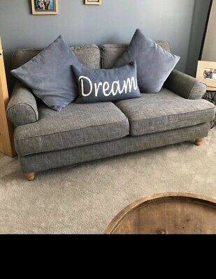£200 • Buy NEXT Austell 3 Seat Sofa. Boucle Weave Dark Grey. Excellent Cond. Smoke Pet Free