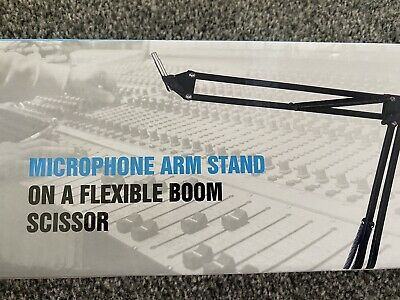 £4.99 • Buy Microphone Arm Stand On A Flexible Boom Scissor