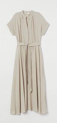 £3.99 • Buy Ladies Button Front Dress By H&M In Light Beige Size M Medium RRP £25 WORN ONCE