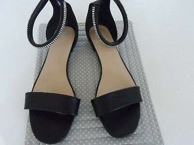 £5 • Buy Ladies Shoes /sandals New Marks & Spencer Size 8 Black And Diamante Ankle Strap