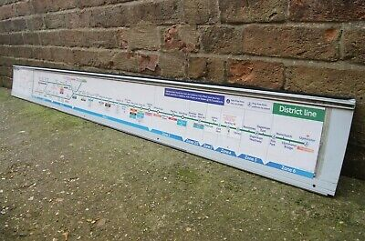 £34.99 • Buy Mounted London Underground Sign Tube Map Carriage Line Diagram District Line