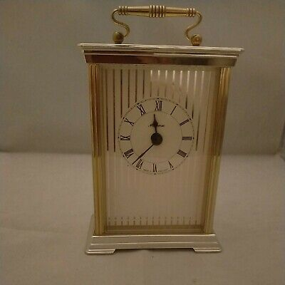 £6.50 • Buy Metamec Carriage Clock Gold Made In England Roman Numerals Working, Vgc