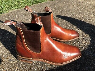 AU268 • Buy RM Williams Burnished Leather Chinchilla  Boots - Size 9G - RRP $795
