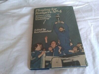 £10 • Buy Playing For Rangers No. 4. Ken Gallagher. 1972. Hardback With DJ