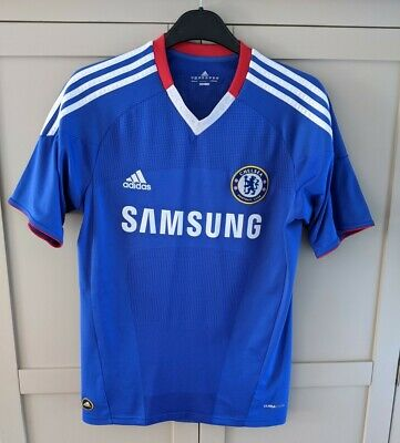 £9.99 • Buy Chelsea FC 2010/11 Samsung Home Blue Football Shirt Jersey Adidas Size S Small