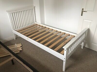 £30 • Buy 3ft Single Wooden Bed With 2 Clean Mattresses + Memory Foam If Neeed