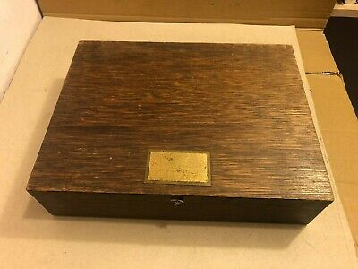 £7 • Buy Vintage Wooden Box, With Closing Lid