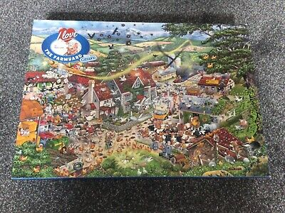 £2.50 • Buy Gibsons I Love The Farmyard, Mike Jupp, 1000 Piece Puzzle, Complete