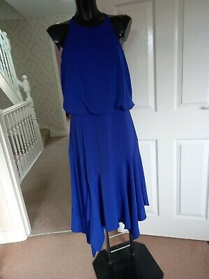 £12.99 • Buy Lipsy~ Gorgeous Aysmetric Fit And Flare Dress~ Size 16 Bnwt ☆