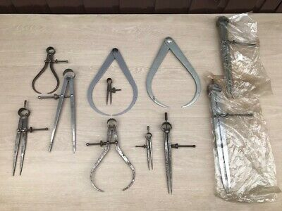 £22 • Buy Job Lot 11 No. Calipers / Dividers Engineering Tools - Moore And Wiright