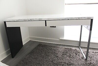 £20 • Buy IKEA MICKE Black Office Computer Desk With 2 Drawers – 142 X 50 Cm