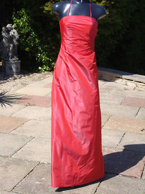 £29.99 • Buy Monsoon Red Halterneck Maxi Dress Size 08 PROM Wedding Party Cruise Ball