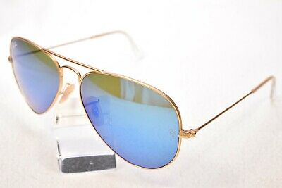 £6.55 • Buy Ray-ban Rb3025 55mm Large Metal Blue Mirrored Glass Lens Aviator Sunglasses