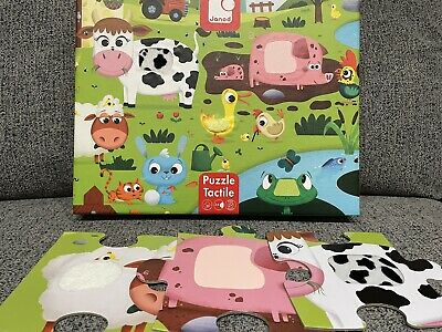 £0.99 • Buy Janod Childrens Tactile Farmyard Puzzle