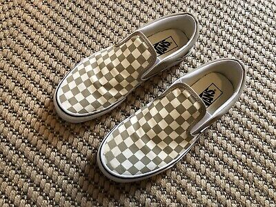 £4.20 • Buy Vans Checkerboard Classic Slip-Ons In UK Size 8 Incense/True White Colour