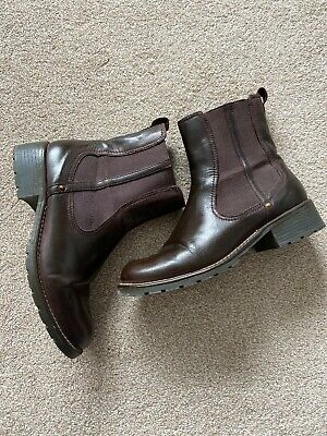 £26.50 • Buy Clarks Brown/burgundy Chelsea Boots Size 6 Great Condition