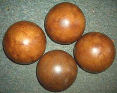 £36.50 • Buy Four Large Hand Made Solid Wood Spheres Approx 5 Inch Diameter Decorative Balls