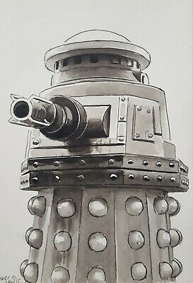 £15 • Buy DR DOCTOR WHO ORIGINAL ART - 'SPECIAL WEAPONS DALEK' Remembrance Of The Daleks