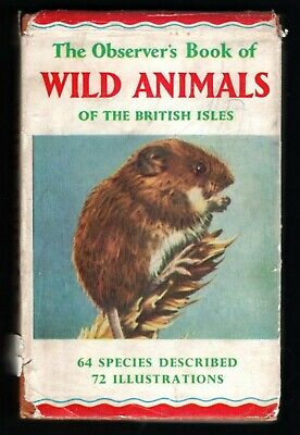 £1.20 • Buy OBSERVER BOOK Of Wild Animals Of The British Isles 1964 Edition