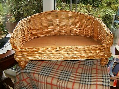 £12 • Buy Raised Cane Wicker Woven Dog / Cat Bed Pet Basket