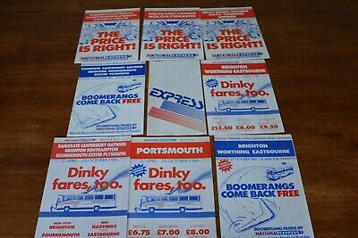 £6 • Buy 1980s NATIONAL EXPRESS ASSTD COACH SERVICES TIMES & FARES LEAFLETS X 8 REF T109